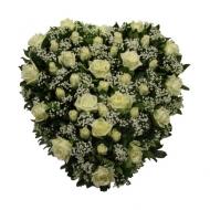 """Corazón de Rosas """"Blanca Despedida"""""""