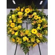 Corona flor amarilla