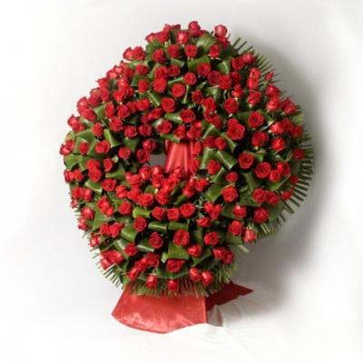 Corona Premium rosas rojas